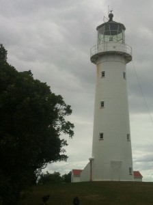 The Tiritiri Matangi lighthouse which still operates automatically