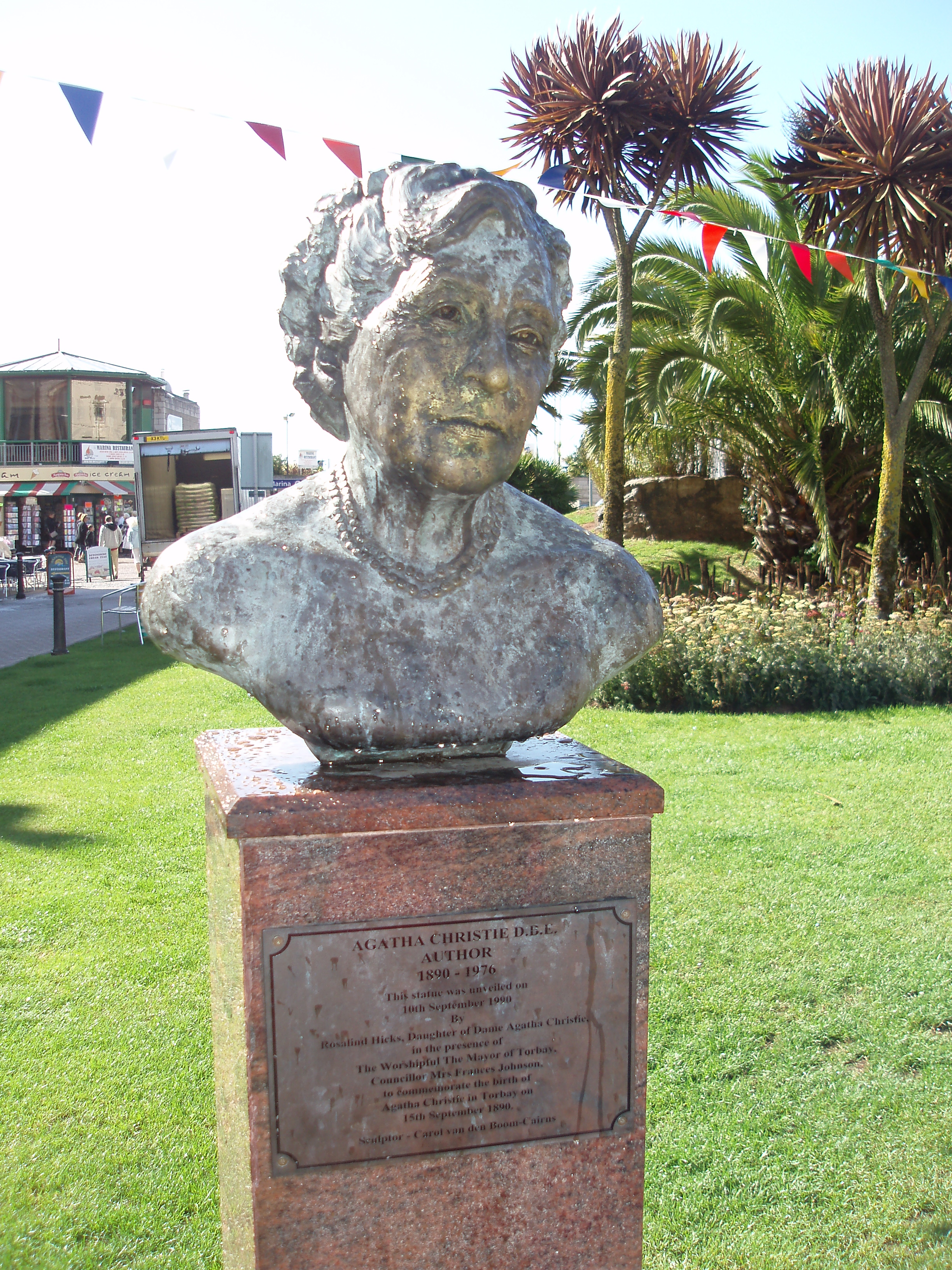 Bust of Agatha Christie