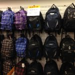 Back Packs as far as the eye can see...